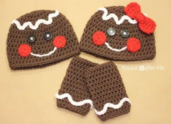 Novogodišnje kapice - gingerbread