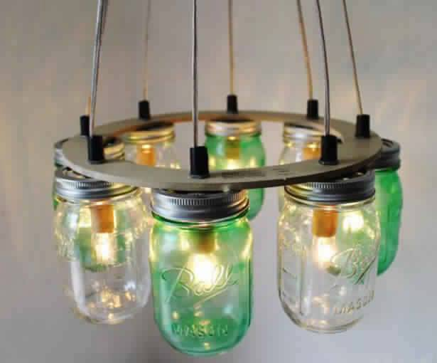 reciklaža tegli rustični luster