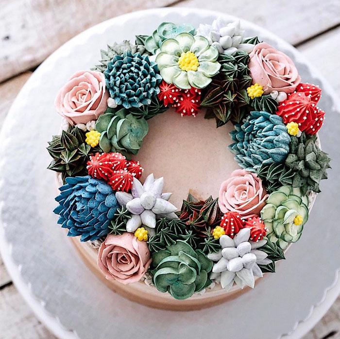 dekoracija-torte-šareno-cveće