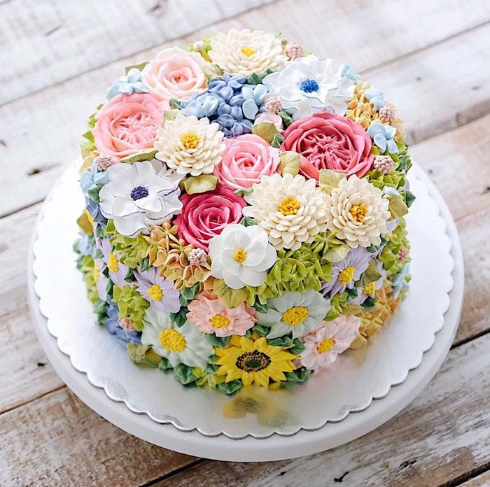 dekoracija-torte-prolećno-cveće
