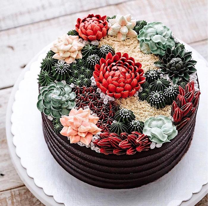 dekoracija-torte-sukulent