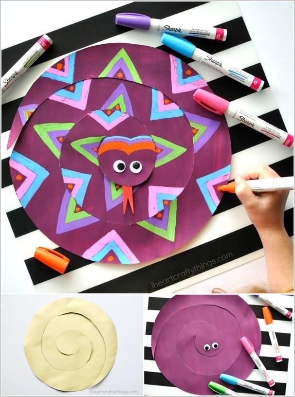 kreativne-prolecne-ideje-za-decu-zmija